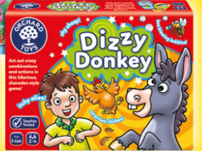 Orchard Toys Dizzy donkey action and performance game