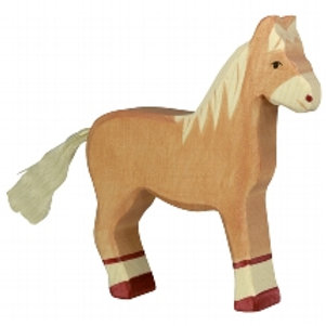 Holztiger Horse ( Standing Light Brown)
