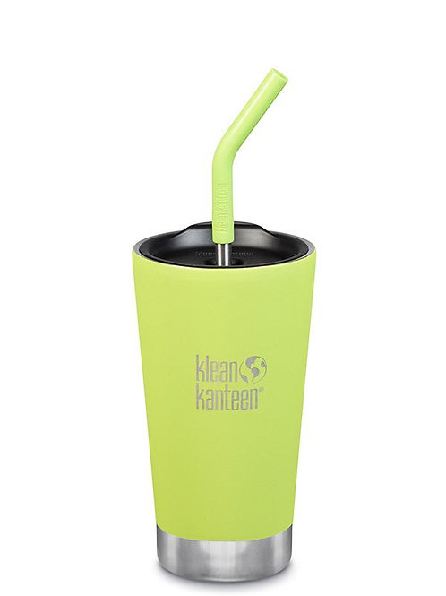 Klean Kanteen Insulated Tumbler 16oz (473ml) with Straw Lid Juicy Pear