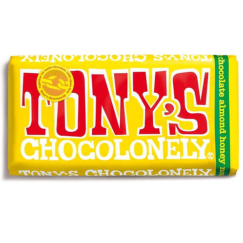 Tonys Chocoloney : Milk Chocolate Almond Honey Nougat