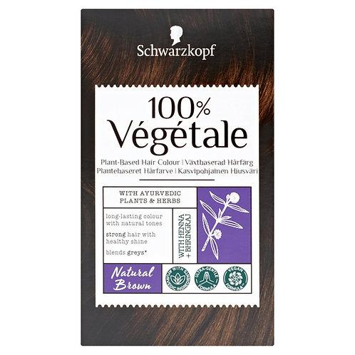Schwarzkopf 100% Vegetale Plant-Based Permanent Hair Colour : Natural Brown