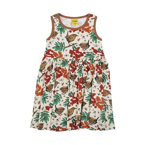 Duns Rowanberry Mother of Pearl Sleeveless twirl/gather dress