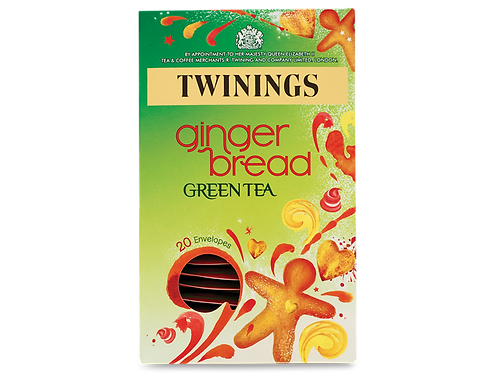 Twinings Gingerbread Green Tea 20 envelopes