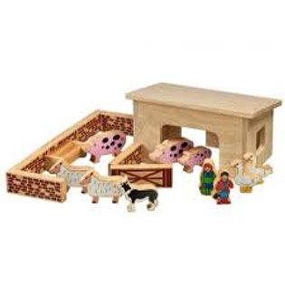 Lanka Kade Pig & sheep barn with colourful characters