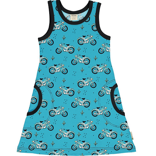 Meyadey Cool Biker Sleeveless Dress