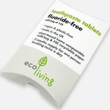 Eco Living toothpaste tablets refill Fluoride free
