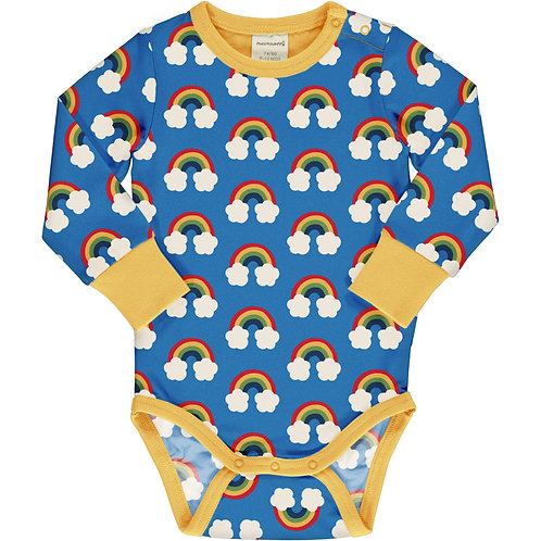 Maxomorra Rainbow Long Sleeved Bodysuit/vest