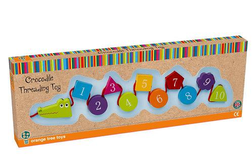 Orange Tree Toys Crocodile Threading Toy