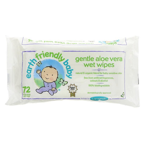 Earth Friendly Eco Baby Wipes 72 pack