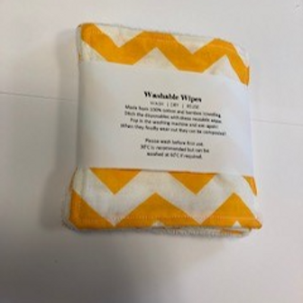 Large Reusable Bamboo Washable Wipes large pack of 5