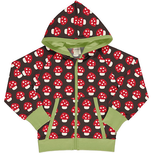 Maxomorra Hooded jacket/cardigan Mushroom