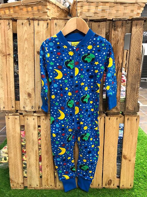 Duns Mother Earth Blue Zip Romper Suit