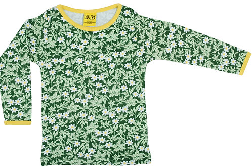 Duns Wood Anemone Green Long Sleeved top