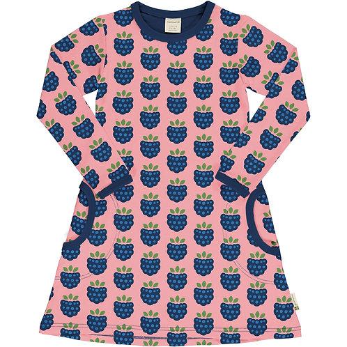 Maxomorra Blackberry Long Sleeved Dress