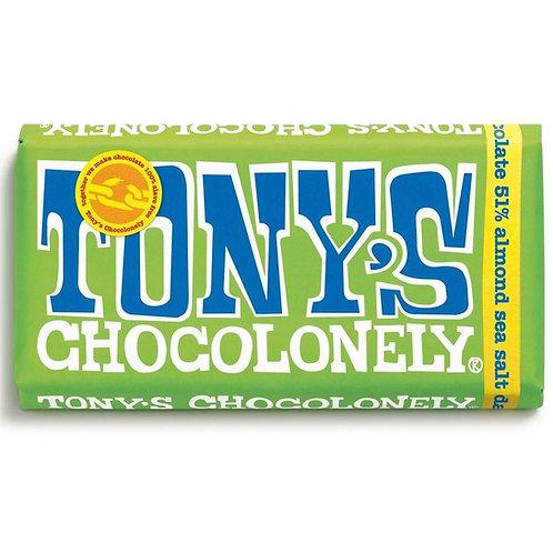 Tonys Chocoloney : Dark Chocolate Almond and Sea Salt