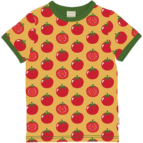 Maxomorra Tomato Short Sleeved Top