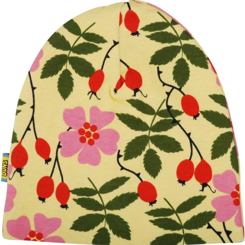 Duns Rosehip Yellow Double Layer Beanie Hat