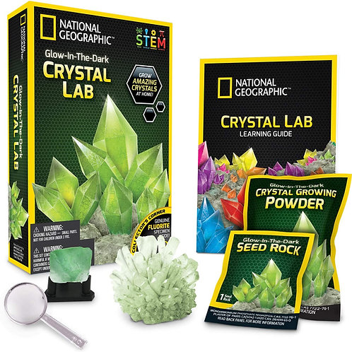 National Geographic Green Glow in The Dark Crystal Growing Lab