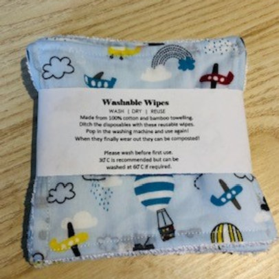 Large reusable wipes pack of 5
