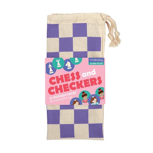Mudpuppy Enchanting Princess Chess and Checkers