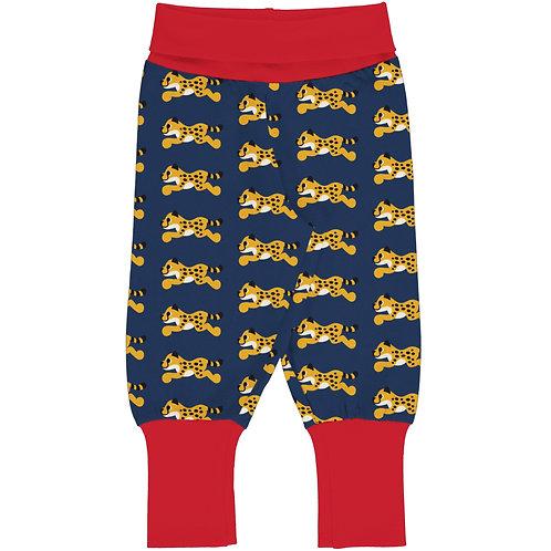 Maxomorra Cheetah Rib Trousers