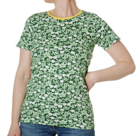 Duns Wood Anemone Green Adult Short Sleeved top