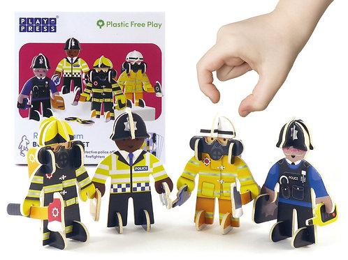 Play Press Police & Firemen Eco Friendly Playset