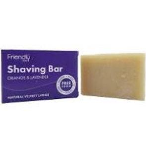 Friendly Soap Natural Shaving Soap Bar - Orange & Lavender - 95g