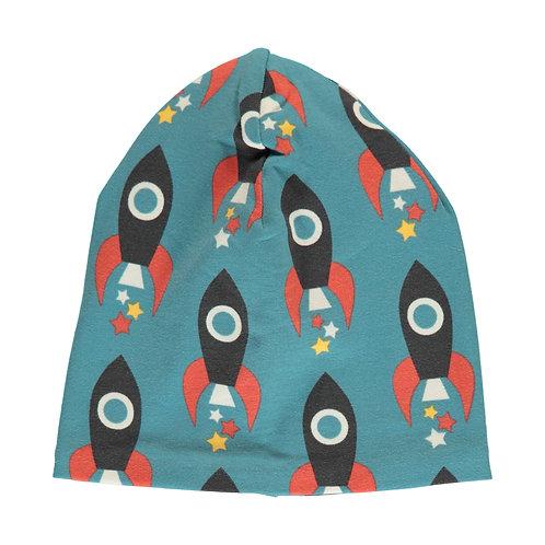 Maxomorra Moon Rocket Velour beanie hat