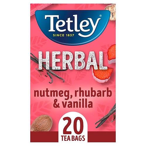 Tetley Herbal Nutmeg, Rhubarb & Vanilla Tea Bags 20 per pack