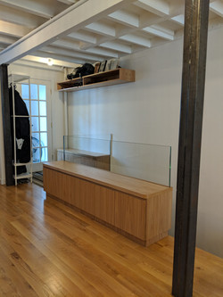custom storage units and shelf