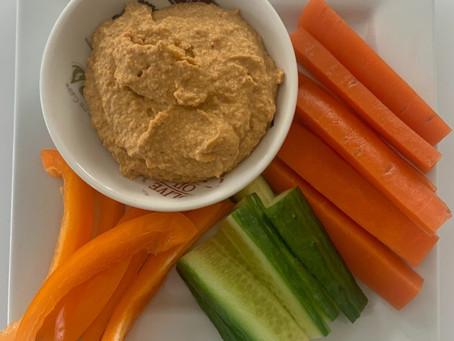 Roasted Garlic & Capsicum Hummus
