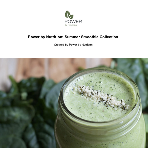 Power by Nutrition Summer Smoothie Collection Recipe E-Book Front Cover