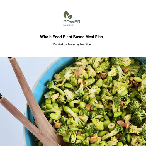 7-Day Whole Food Plant-Based Meal Plan