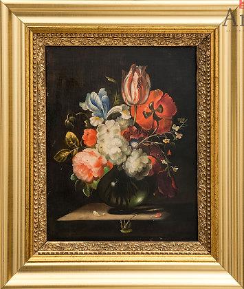 Naturaleza muerta de flores de S. XVIII-XIX. Holanda.