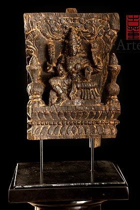 Panel, representacion de la diosa Bhagyalakshmi.