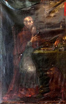 San Jeronimo. Oleo sobre tela. Siglo XVIII.