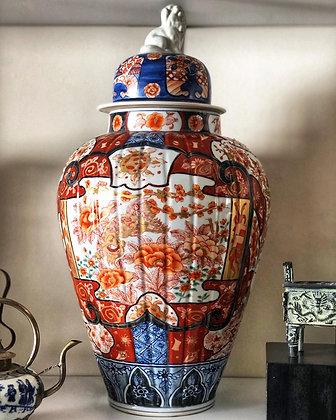 Jarrón de porcelana Imari