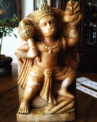 enigmática estatua del siglo XVIII del dios-mono Hanuman, r