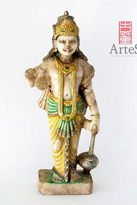 Antigua talla hindú en alabastro