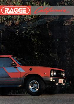 Ragge Califórnia 1986 - Capa folder.