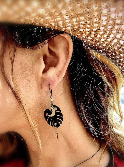 LIGHTEE - Boucles d'oreilles Monstera