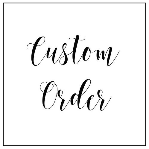 Special Requests & Custom Orders