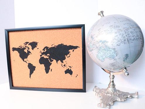 """Traveler's Journey Pin Map - Frame - 11"""" X 14"""""""