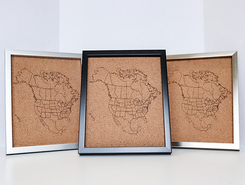 WHOLESALE North America Pin Map - Rastered - SMALL