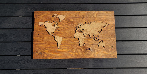 WHOLESALE Push Pin Travel Map - Provincial - Country Borders LARGE