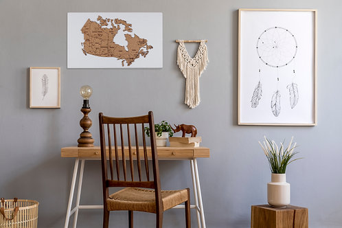 "Canadian Road Trip Push Pin Travel Map - 24"" x 14"""