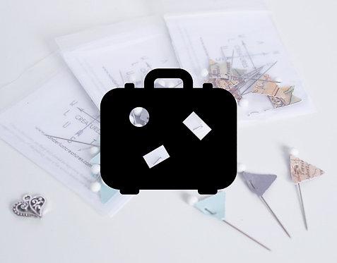 TRAVELER BUNDLE - Handmade Flag Pin Sets - For Traveler Maps