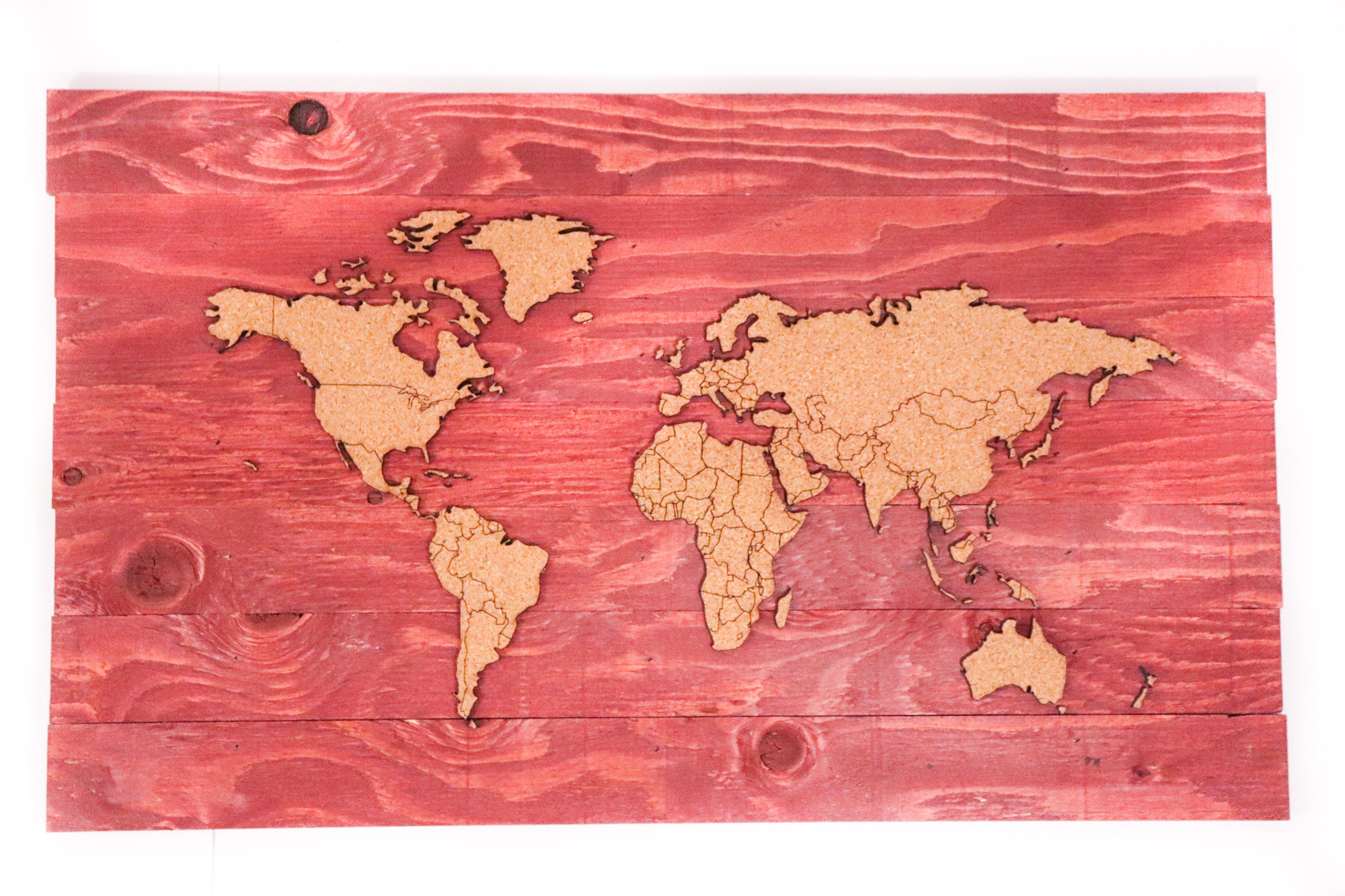Push Pin Travel Map - Sedona Red