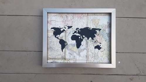 Travelers journey pin map map print wanderlust creatures hand travelers journey pin map map print gumiabroncs Image collections